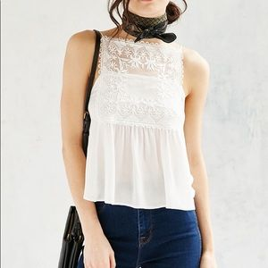 Urban outfitters embroidered tank